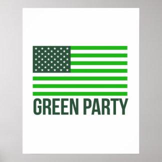 Green Party Flag - - Jill Stein 2016 - Poster