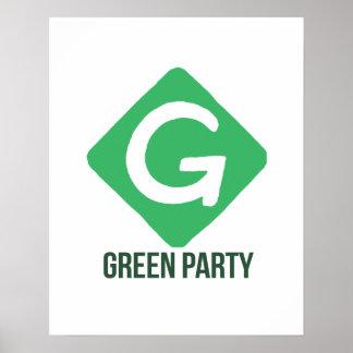 Green Party Logo -- - Jill Stein 2016 - Poster