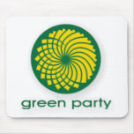 GREEN PARTY MOUSEMAT