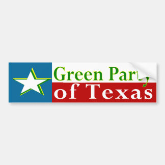 Green Party of Texas Bumper Sticker