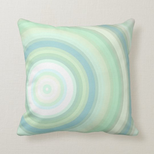 Green Pastel circles Throw Pillow