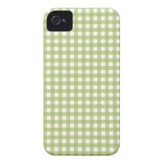 Green pastel gingham plaid check pattern case