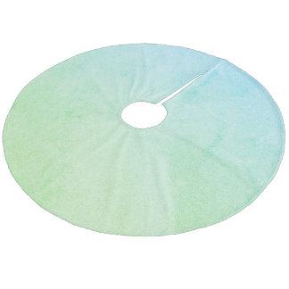 Green  Pastel Ombre Glitter Fleece Tree Skirt