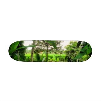 Green patch and fields custom skateboard