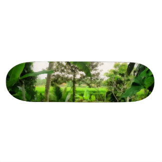 Green patch and fields 19.7 cm skateboard deck
