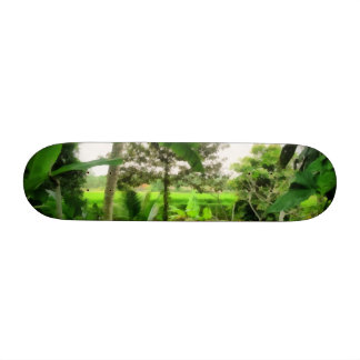 Green patch and fields 20 cm skateboard deck