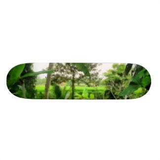 Green patch and fields skate board