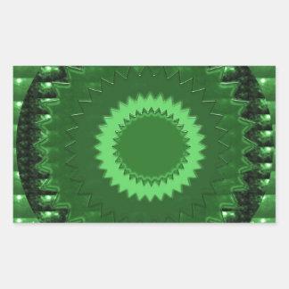 GREEN  Patch: Based  Healing CRYSTAL STONE Rectangular Sticker