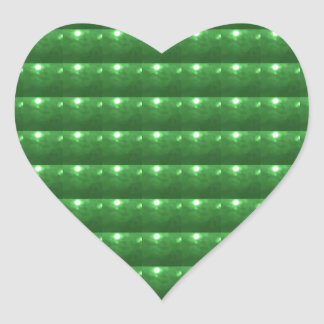 GREEN  Patch: Based  Healing CRYSTAL STONE Heart Stickers
