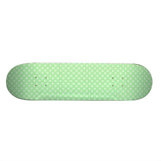 Green Patchwork Pattern Skateboard Deck