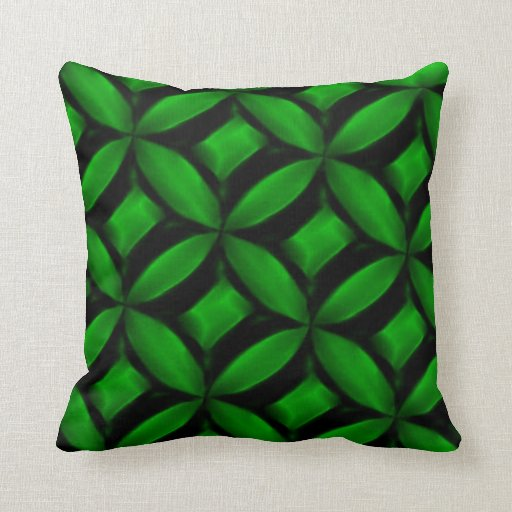 Green Pattern American MoJo Pillows