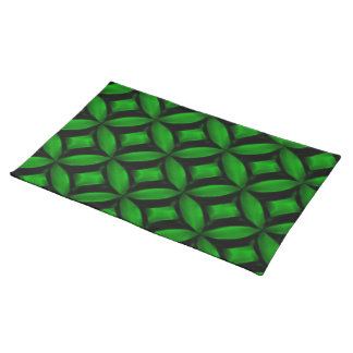 Green Pattern American MoJo Placemats