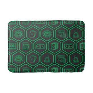 Green Pattern Bath Mat