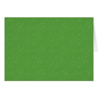 Green Pattern Blank Inside Card