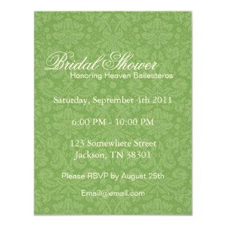 Green Pattern Bridal Shower Invitations