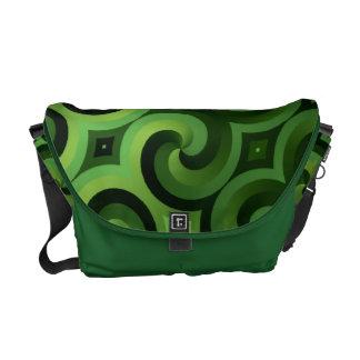 Green Pattern Rickshaw Messenger Bag