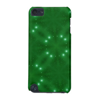 Green Pattern white white dots iPod Touch 5G Cases