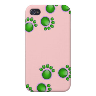 Green Paw iPhone Case iPhone 4 Cases
