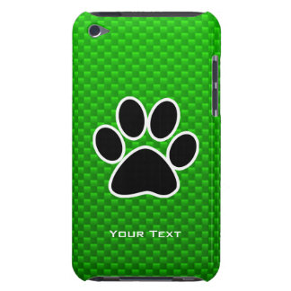 Green Paw Print iPod Touch Case