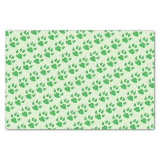 Green Paw Prints Tissue Paper
