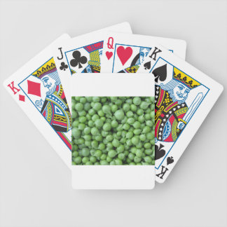 Green pea background . Texture of ripe green peas Bicycle Playing Cards