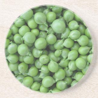 Green pea background . Texture of ripe green peas Coaster