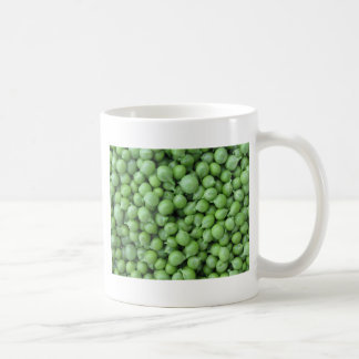 Green pea background . Texture of ripe green peas Coffee Mug