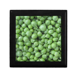 Green pea background . Texture of ripe green peas Gift Box