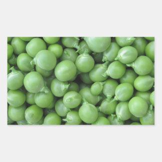 Green pea background . Texture of ripe green peas Rectangular Sticker