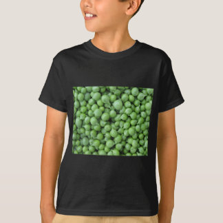 Green pea background . Texture of ripe green peas T-Shirt