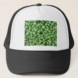 Green pea background . Texture of ripe green peas Trucker Hat