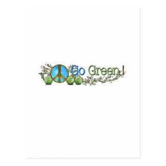 Green Peace card Postcard
