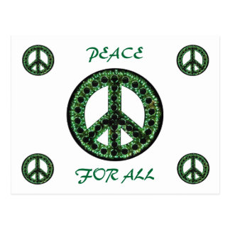 green peace for all postcard