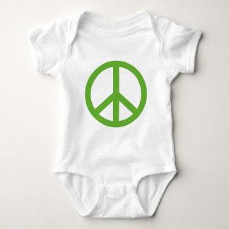Green Peace Sign Symbol Baby Bodysuit