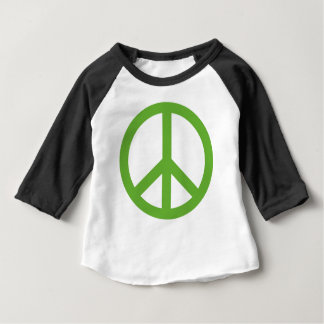 Green Peace Sign Symbol Baby T-Shirt