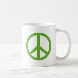 Green Peace Sign Symbol Coffee Mug