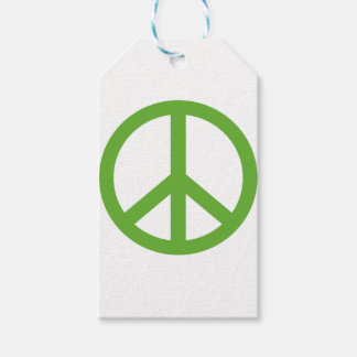 Green Peace Sign Symbol Gift Tags