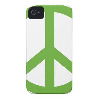Green Peace Sign Symbol iPhone 4 Case-Mate Case