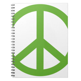 Green Peace Sign Symbol Notebook