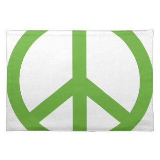 Green Peace Sign Symbol Placemat