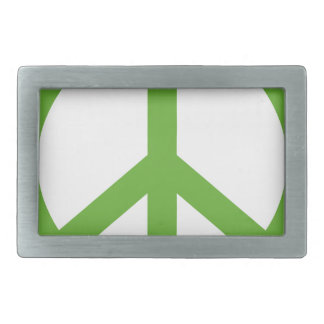 Green Peace Sign Symbol Rectangular Belt Buckles
