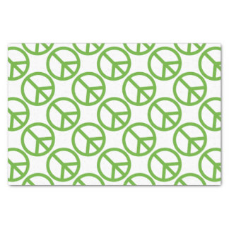Green Peace Sign Symbol Tissue Paper