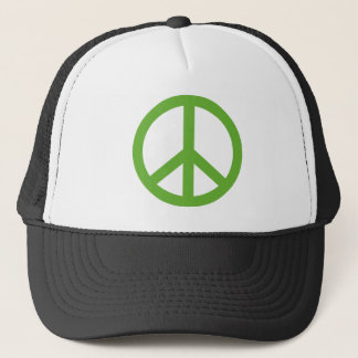 Green Peace Sign Symbol Trucker Hat