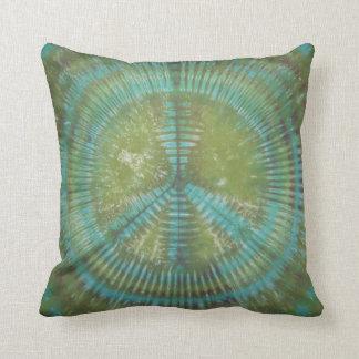 Green Peace Sign Tie Dye American MoJo Pillow