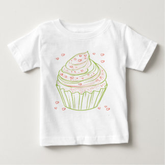 green_peach_cupcake_with_icing baby T-Shirt