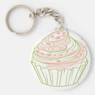 green_peach_cupcake_with_icing key ring