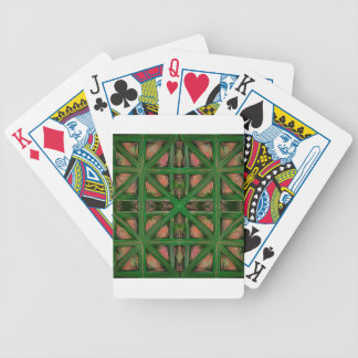 Green Peach Plaid Bicycle Playing Cards