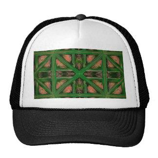 Green Peach Plaid Cap
