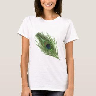 Green Peacock Feather D T-Shirt