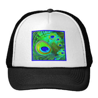 Green Peacock Feather Eyes Gifts Cap